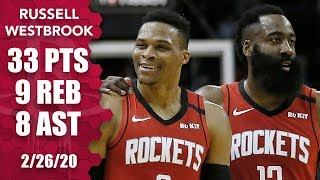 Russell Westbrook dominates with 33 points in Grizzlies vs. Rockets | 2019-20 NBA Highlights