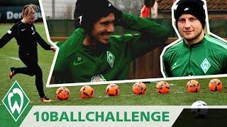 ⚽🏆 10 BALL CHALLENGE mit Fin Bartels & Philipp Bargfrede   SV Werder Bremen