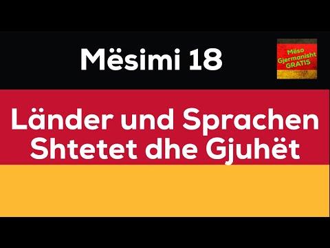 Länder und Sprachen I Shtetet dhe Gjuhët I Kursi i Gjermanishtes Gratis
