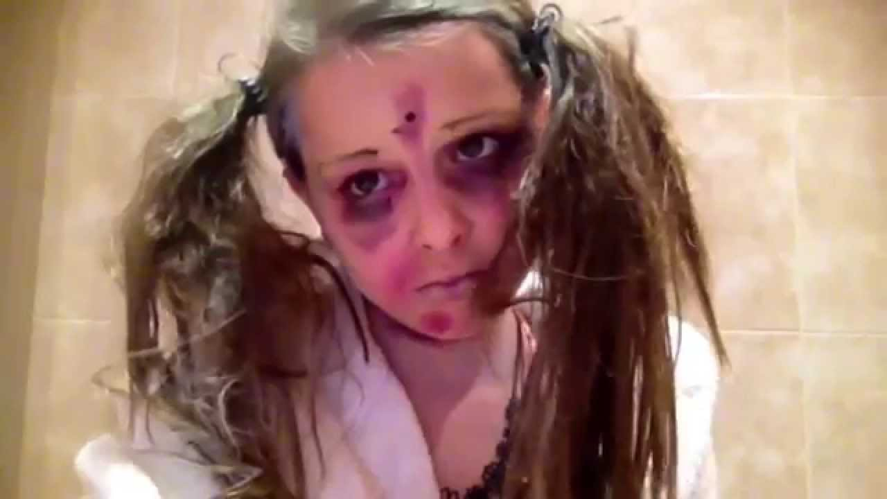 Dead little girl makeup tutorial - YouTube