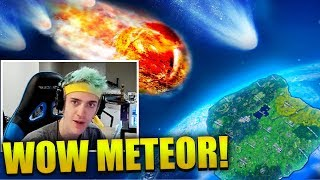 NINJA SPOTS BIG METEOR FALLING SOMEWHERE!! - Fortnite Best & Funny Moments (Fortnite Battle Royale)