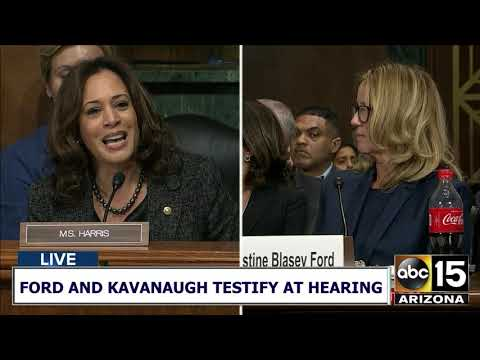 """You are NOT ON TRIAL!"" Sen. Kamala Harris PRAISES Dr. Christine Ford for coming forward"