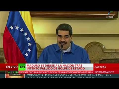 Maduro se dirige por primera vez al pueblo de Venezuela tras la intentona golpista de Guaidó