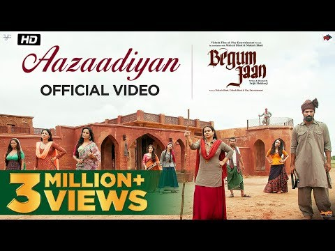 Aazaadiyan  Begum Jaan  Sonu Nigam  Rahat Fateh Ali Khan  Anu Malik  Vidya Balan