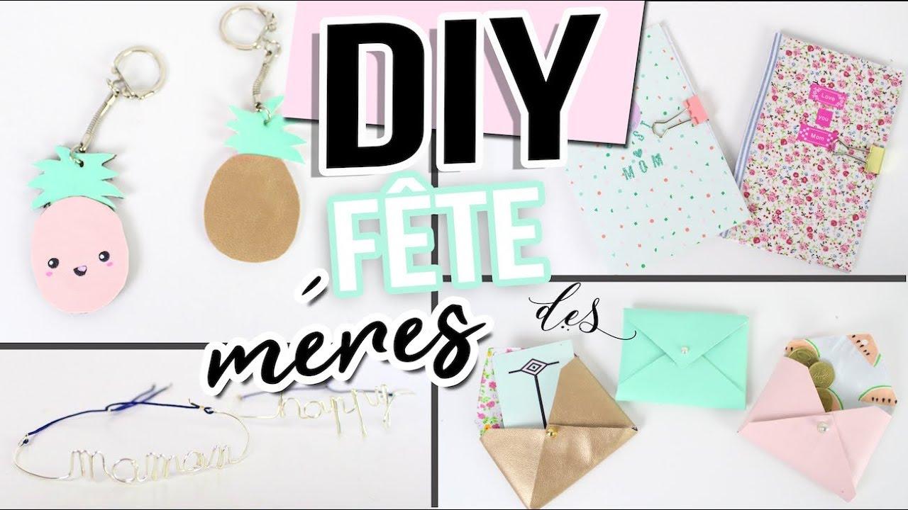 Diy Fete Des Meres 4 Idees Cadeaux Facile Pas Cher Mother S Day Gift Francais Youtube