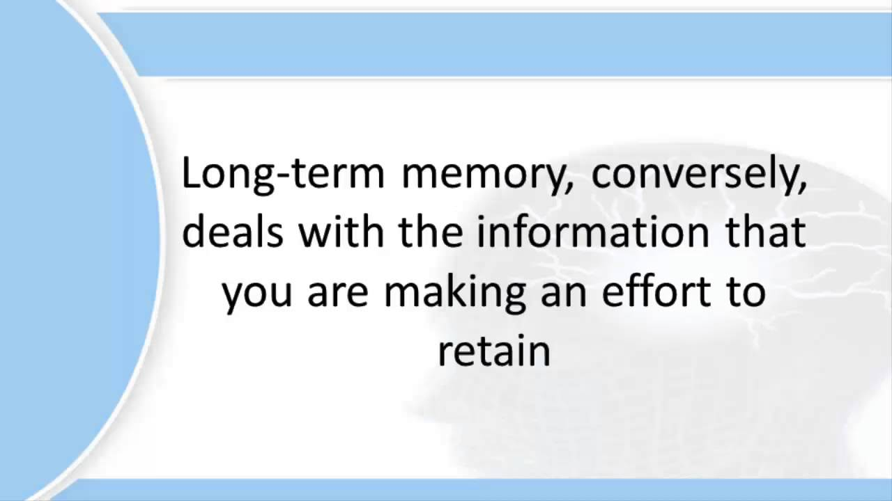 categorisation in long term memory essay Long-term memory (ltm) is the stage of the atkinson–shiffrin memory model  where informative knowledge is held indefinitely it is defined in contrast to.