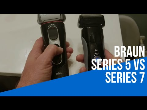 Braun Series 5 and Series 7 comparison