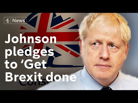 Boris Johnson promises to 'get Brexit done' by end of October