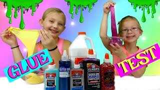 TESTING DIFFERENT GLUES FOR SLIME!!!