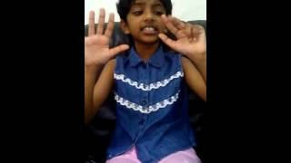 D. Divika (8 yrs old) Is Saying Her 16 Time Table (Vaipadu) In English