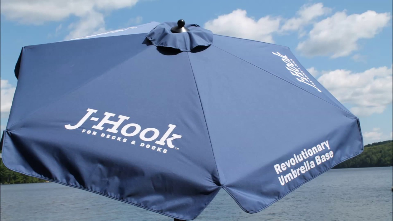J Hook Portable Umbrella Base For Decks Docks Will Never Blow Over