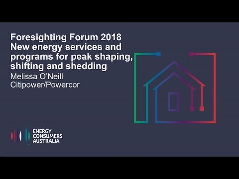 Melissa O'Neill, Powercor and Citipower - New energy services and programs