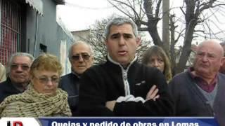Vecinos de Lomas reclaman obras