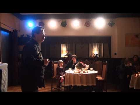 Tran Quang Hai plays the credit card as a Jew's harp, Poland, 13 october 2011