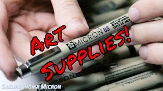 What Pens I Use! ~ Drawing Supplies ~