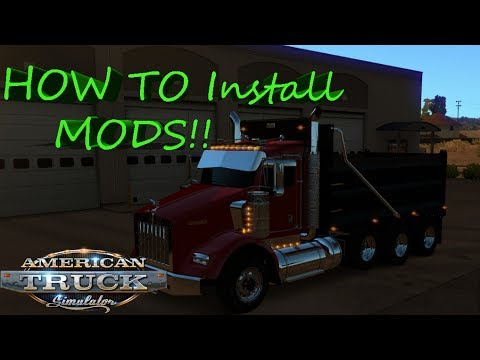 HOW TO Install Mods On American Truck Simulator In 2 Ways!! Easy And Quick!