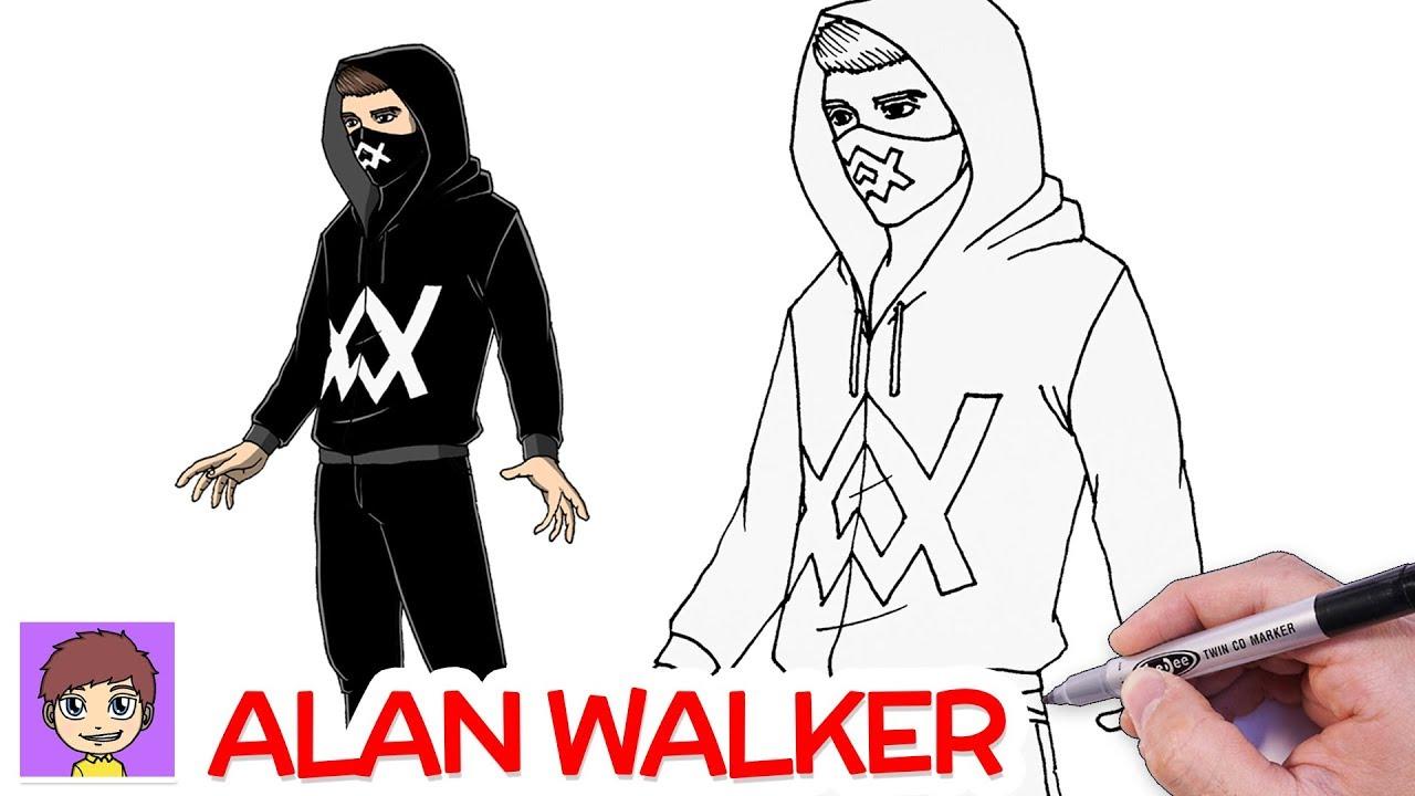 Como Dibujar a Alan Walker Paso a Paso - Dibujos Faciles - YouTube