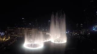 Dubai Fountain 2016 Thriller Michael Jackson (4k hero 4 ,black )