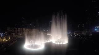 Dubai Fountain 2016 Thriller Michael Jackson (4k hero 4 ,black )