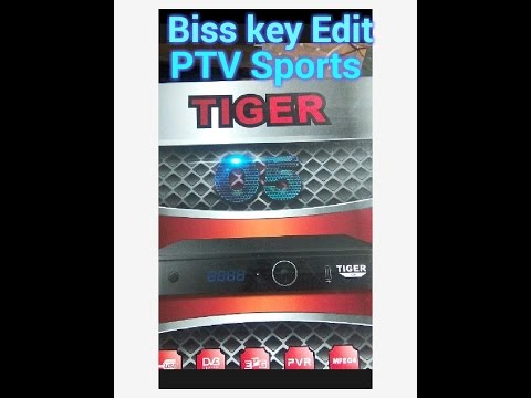 How to add biss key in Tiger o5