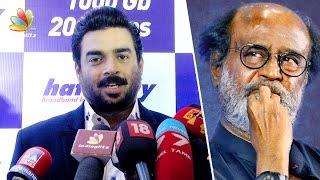 Madhavan on Rajinikanth's entry in politics | Latest Speech at Hathway Press Meet