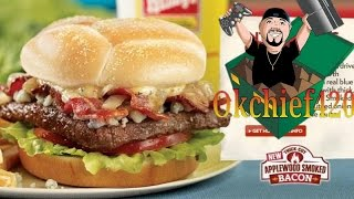 Thefoodchasers Ep. 46 Wendy's Bacon Blue Cheese Burger - Okchief420