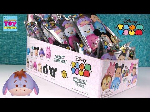 Disney Tsum Tsum Series 2 Figural Keyrings Full Box Blind Bag Opening | PSToyReviews