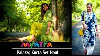 MYNTRA Palazzo Kurta Set Haul   Under Rs.800 #myntrahaul #practicalfashion