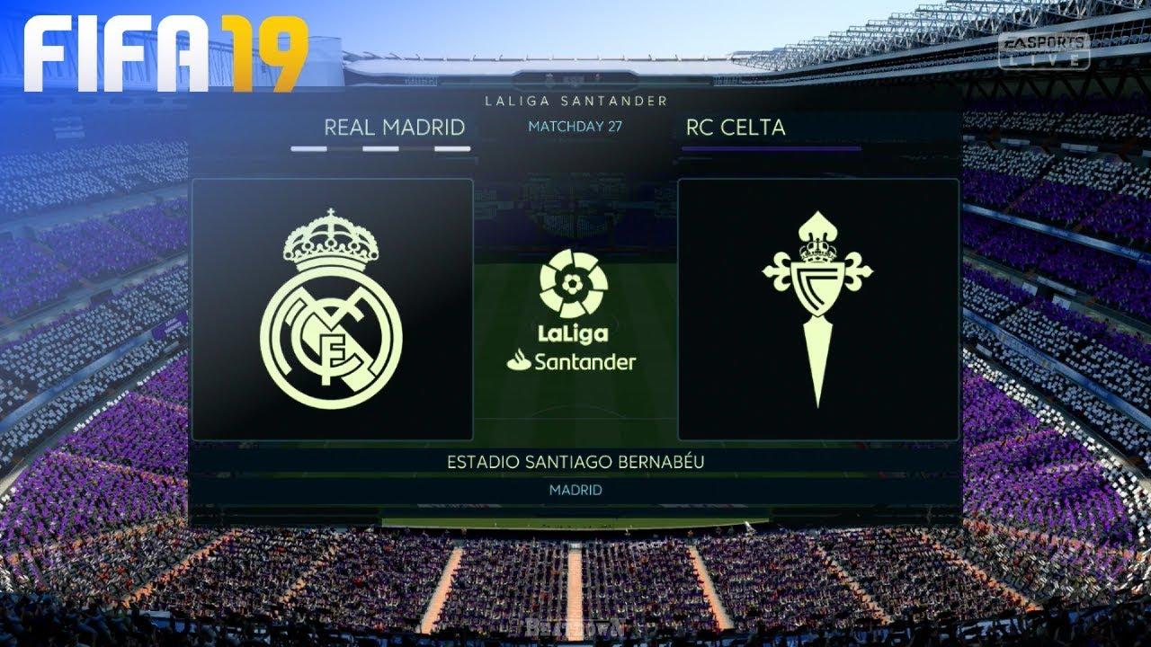 Fifa 19 Real Madrid Vs Celta De Vigo Estadio Santiago