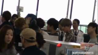 121201 EXO In HK Airport Back To Korea