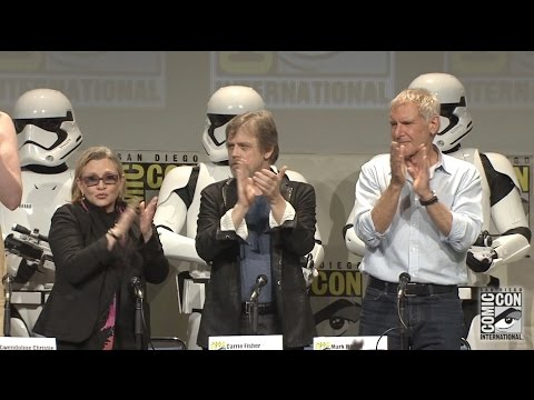 Harrison Ford, Mark Hamill, Carrie Fisher appear in Star Wars: The Force Awakens panel at SDCC 2015
