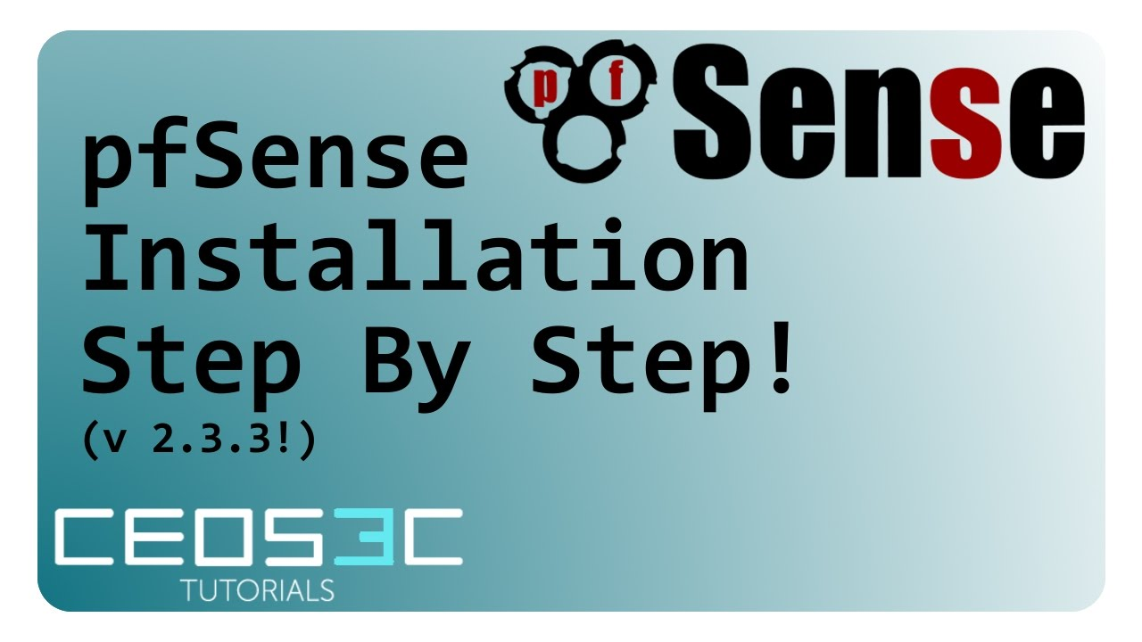 pfSense Tutorial Series - pfSense 2 3 3 Installation Step By Step (UPDATED!)