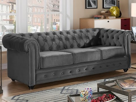 Canape Chesterfield Velours
