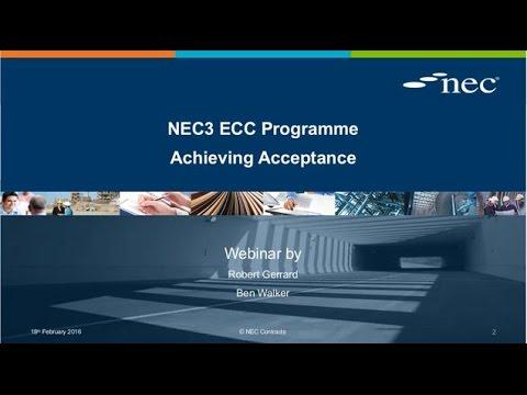 NEC3 Programme Webinar