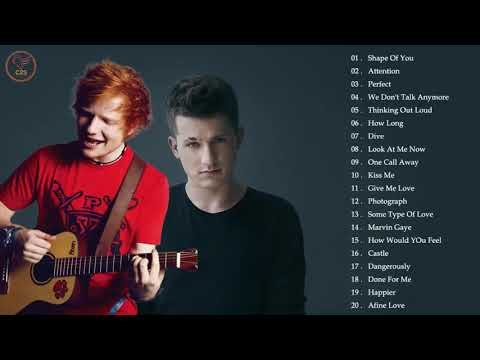 Lagu Barat Terbaru 2019   Charlie Puth, Ed Sheeran Greatest Hits Album
