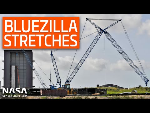 SpaceX Boca Chica - Bluezilla Stretches Its Limbs - Boca Drive Past