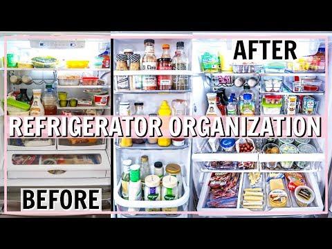 REFRIGERATOR ORGANIZATION IDEAS!