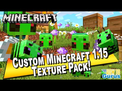 How To Make A Custom Minecraft Texture Pack 1.15 - Custom Minecraft 1.15 Bees!