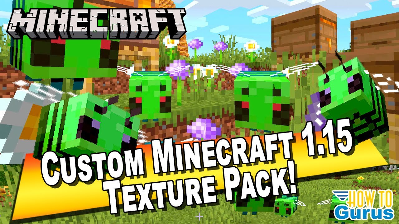 How To Make a Custom Minecraft Texture Pack 9.95 - Custom Minecraft Bees! -  Minecraft Java Edition