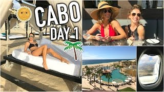 CABO DAY 1! - Traveling, Beach Dance Party, Resort Tour!