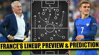 FIFA World Cup 2018 : FRANCE'S Lineup, Preview & Predictions