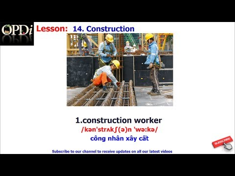 Oxford dictionary - 14. Construction - learn English vocabul