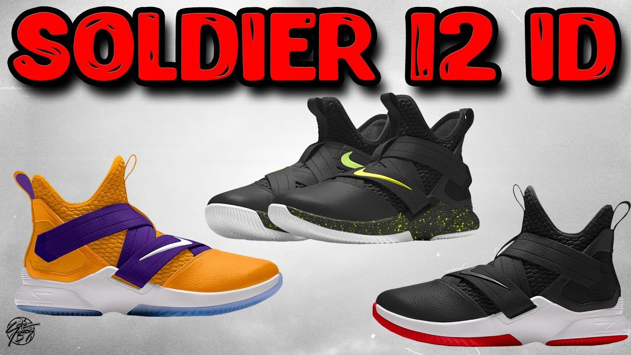 reputable site 282ea 8a549 Customizing The Nike Lebron Soldier 12 On NikeID!