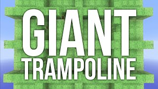 Minecraft - Giant Trampoline Using Slime Blocks - Redstone