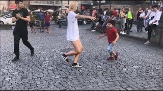 Девушка Танцует Просто Невообразимо С Малышом 2019 Лезгинка В Тбилиси ALISHKA ELVIN I Love Tbilisi