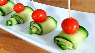 Cucumber Hummus Appetizer (BEST FINGER FOOD!) - Inspire to Cook