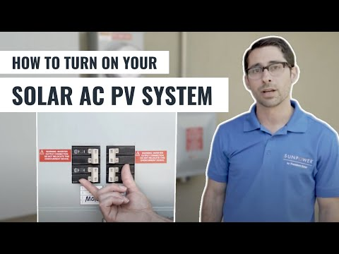 7.  Turning on Your Solar PV System