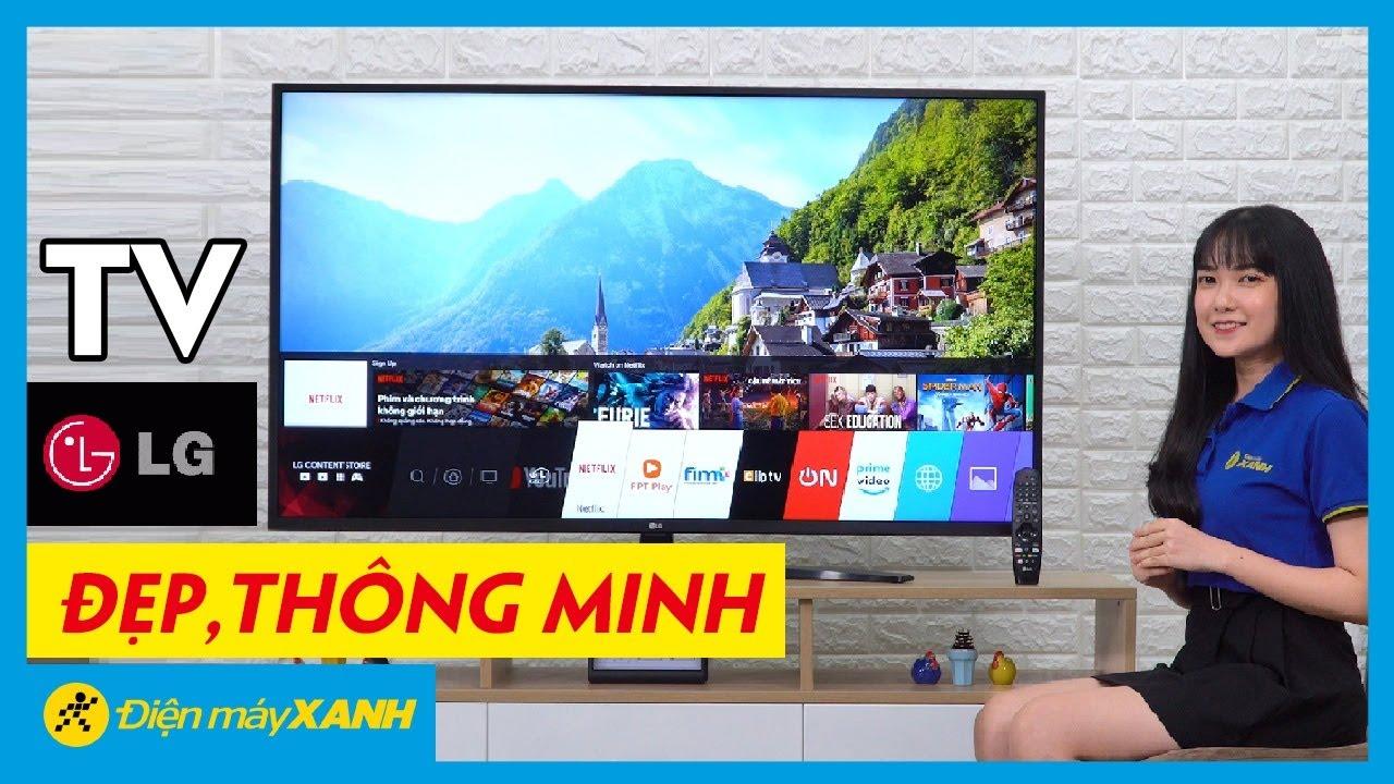 Tivi LG: màn hình 4K, WebOS 4.5 hiện đại, tìm kiếm bằng giọng nói (55UM7400PTA) | Điện máy XANH