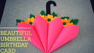 DIY Beautiful Umbrella Birthday card #PaperCraft #Birthday Greeting Cards #craft #ideas #HandMade