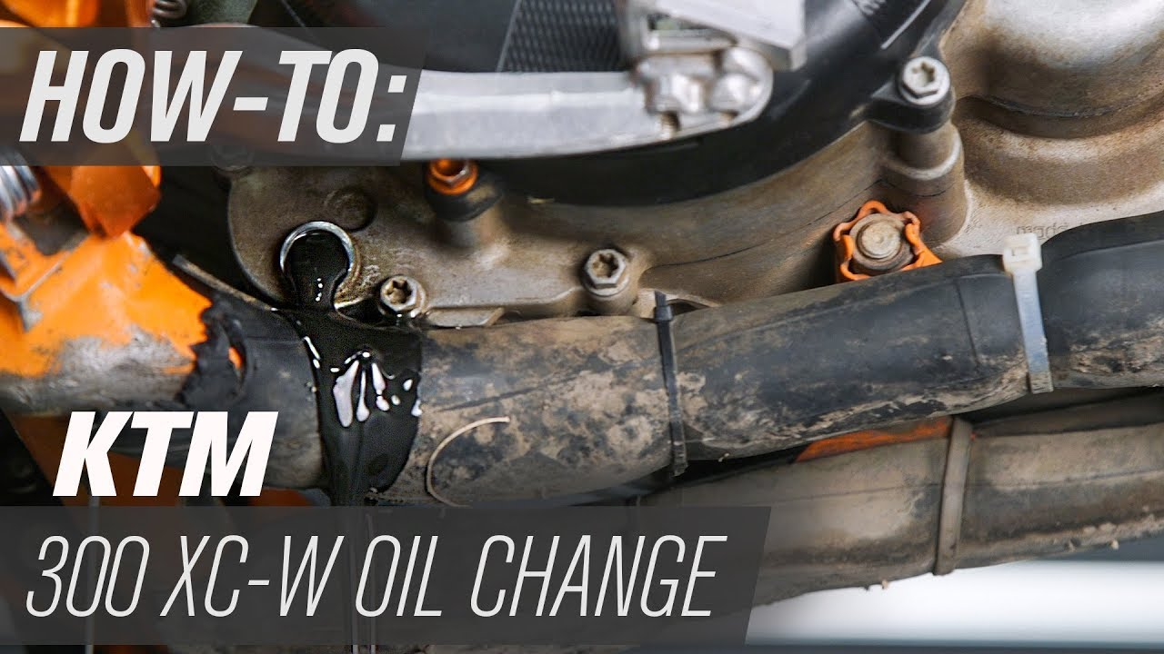 how to change the transmission oil on a ktm 300 xc w [ 1280 x 720 Pixel ]